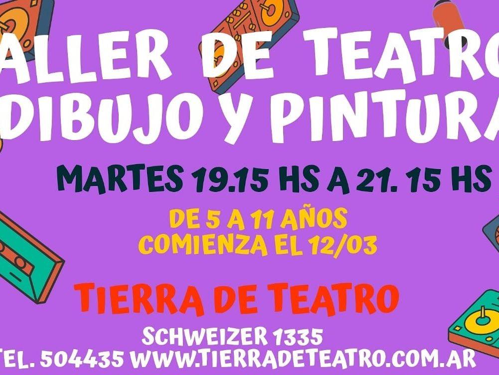 Taller De Teatro Con Dibujo Y Pintura  Para Niños De 6  A 11 Años.